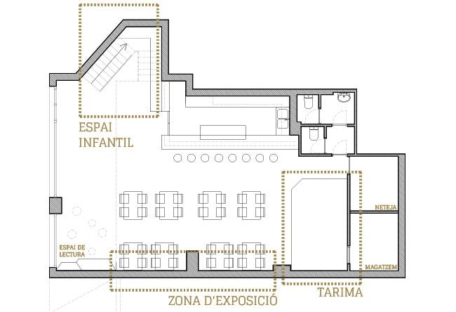 reforma interior de la cruïlla, casal independentista de l'eixample.planta general i zones de projecte