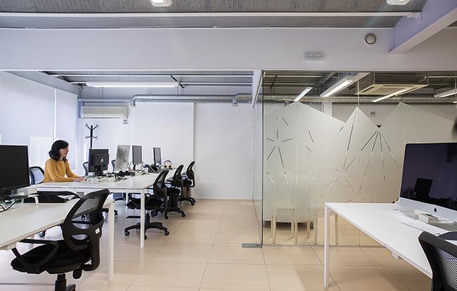 imatge interior de la reforma interior d'oficines